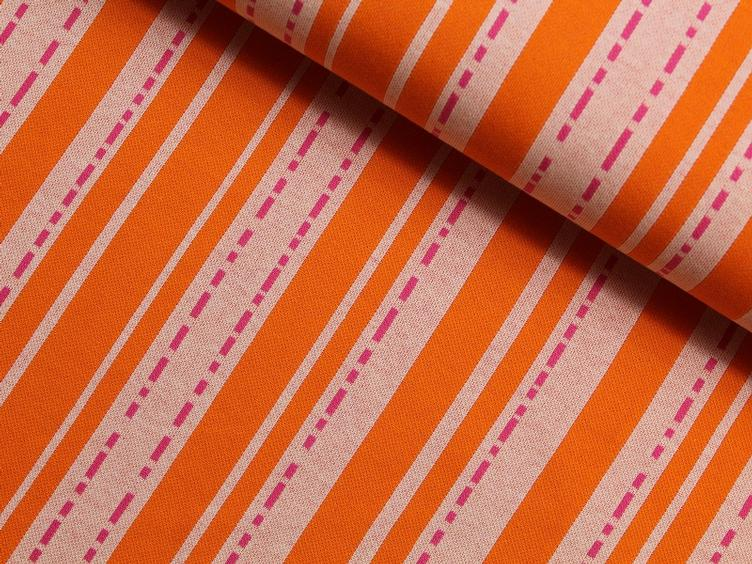 Bloom Pin Stripes orange/rosa Hamburger Liebe