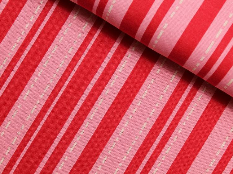 Bloom Pin Stripes rot/rosa Hamburger Liebe