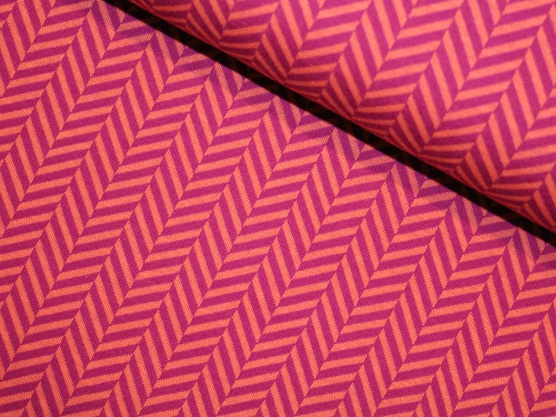 Check Point - Herringbone Jacquard luce ro./ciclam