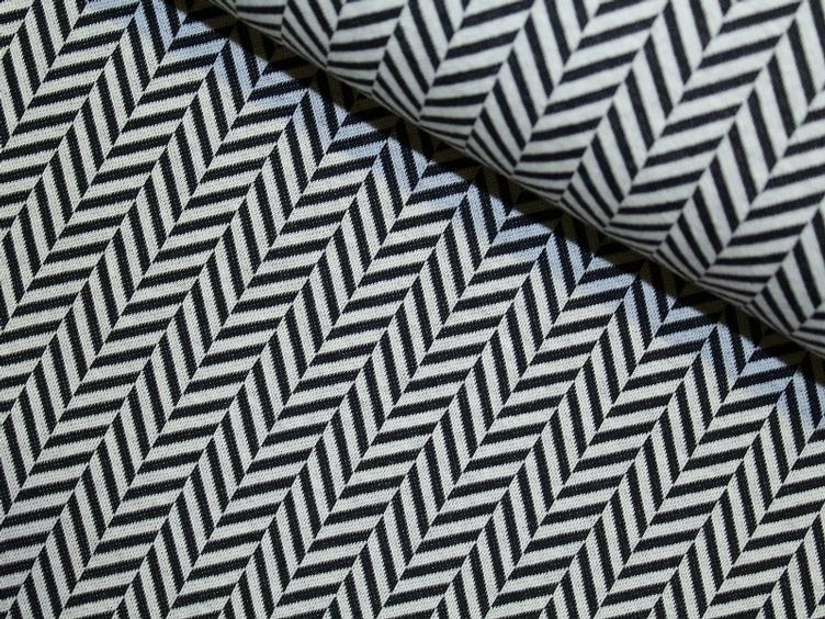 Check Point - Herringbone Jacquard weiss/schwarz