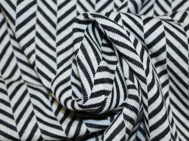Check Point - Herringbone Jacquard weiss/schwarz - 0