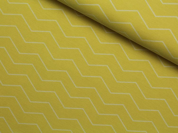 Chevron gelb Canvas Tillisy