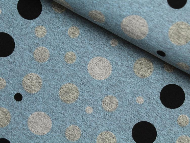 Colour changing fabrics blau Punkte Sommersweat