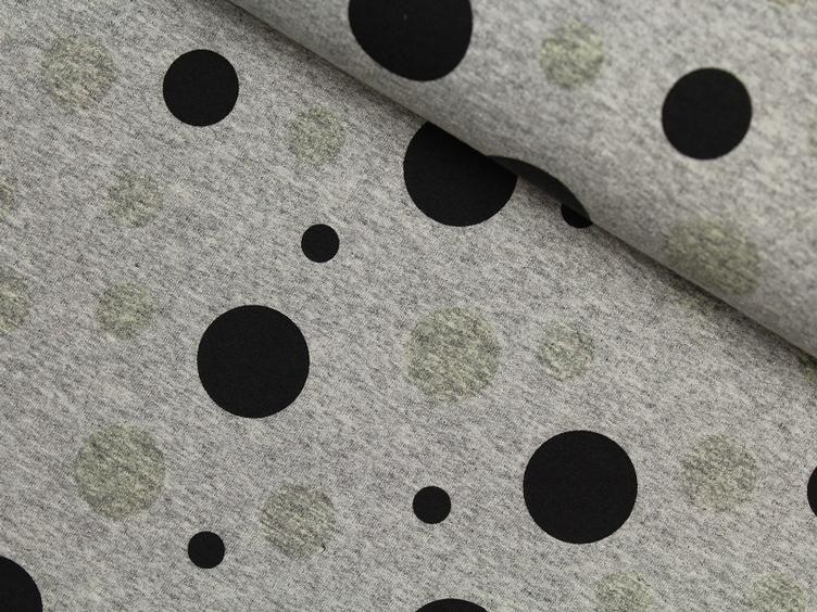 Colour changing fabrics grau Punkte Sommersweat