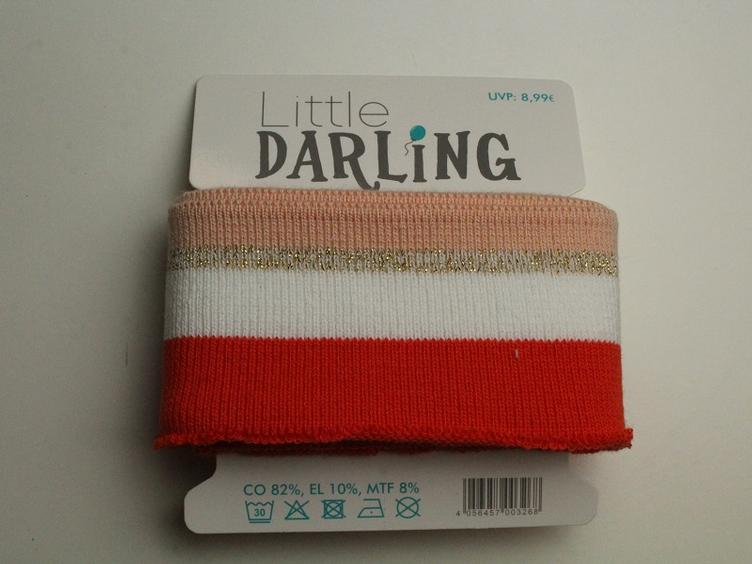 Cuff Mint apricot weiss Little Darling