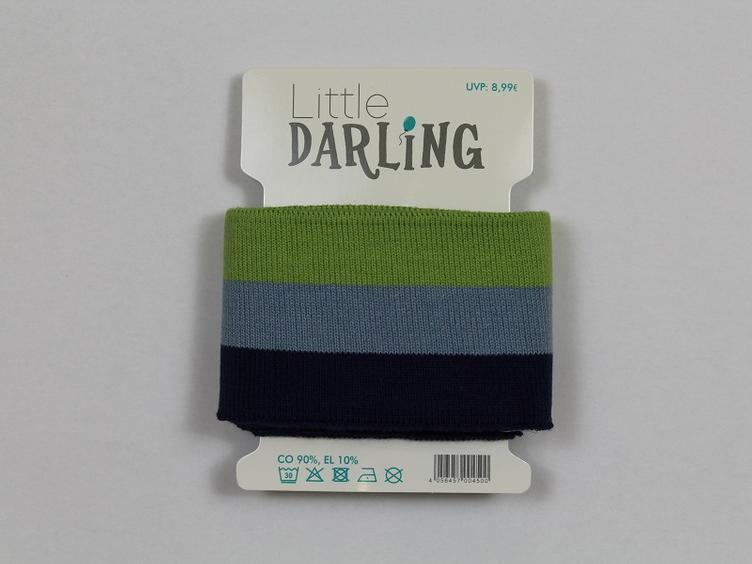 Cuff oliv hellblau marine Little Darling