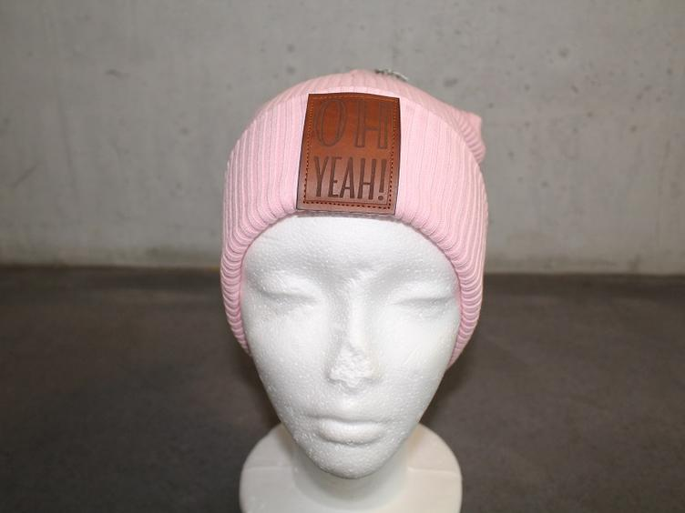 Hipster Beanie rosa Grösse 52-58 OH YEAH