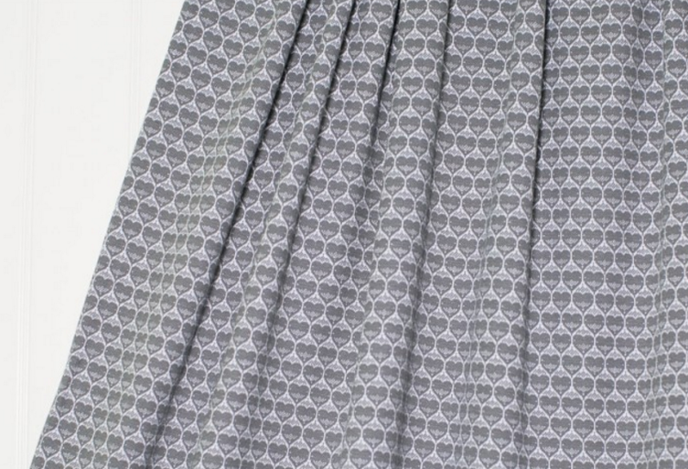 Jacquard Hearts, grey