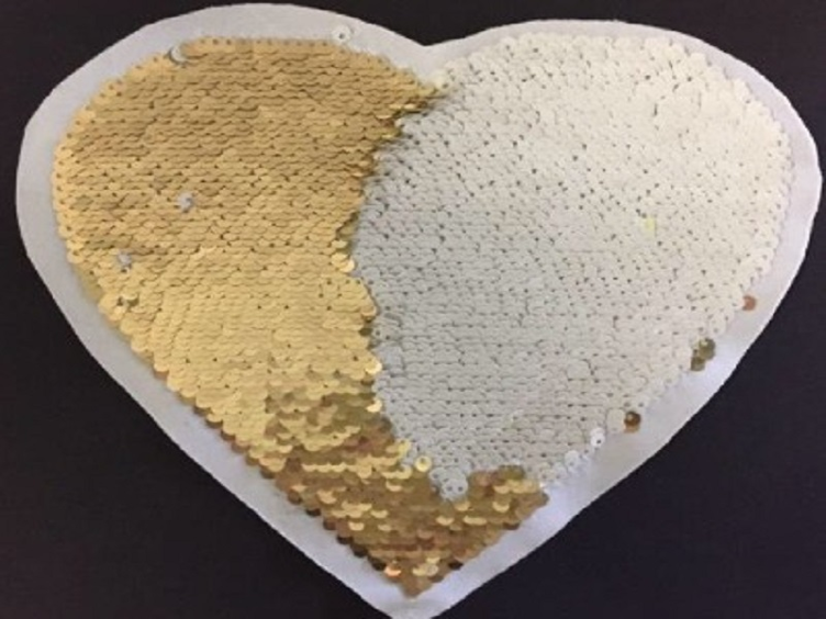 Magical Sequins Heartbeat gold/weiss