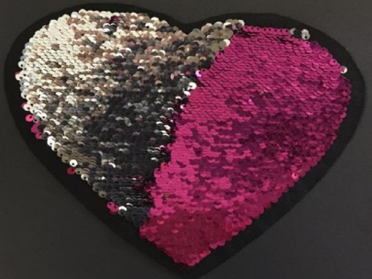 Magical Sequins Heartbeat pink/silber