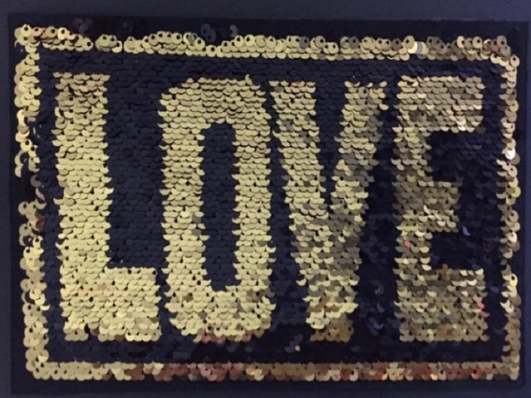 Magical Sequins Simply in Love gold/schwarz