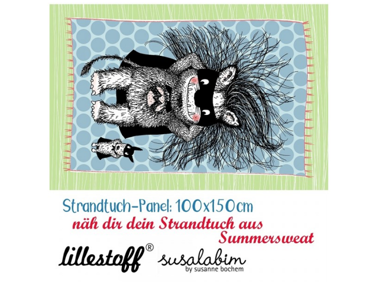 Monsterheld, Strandtuch, Panel, Summersweat Lillestoff!