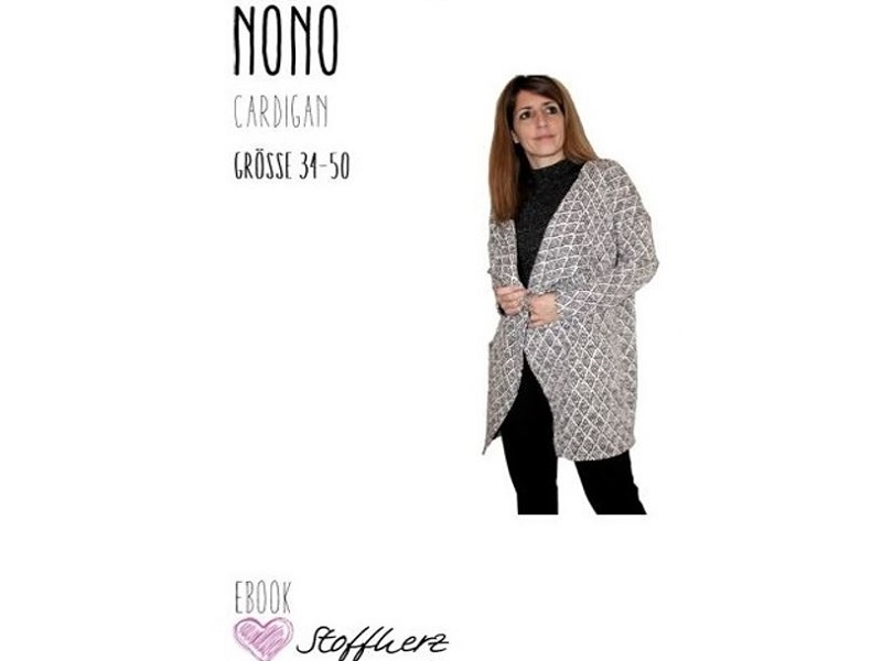 Nono-Cardigan Ebook by Stoffherz Grösse 34-50