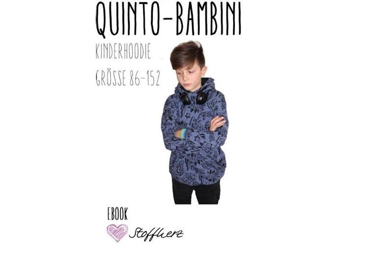 Quinto-Bambini Hoodie Ebook by StoffherzGrösse 86-152