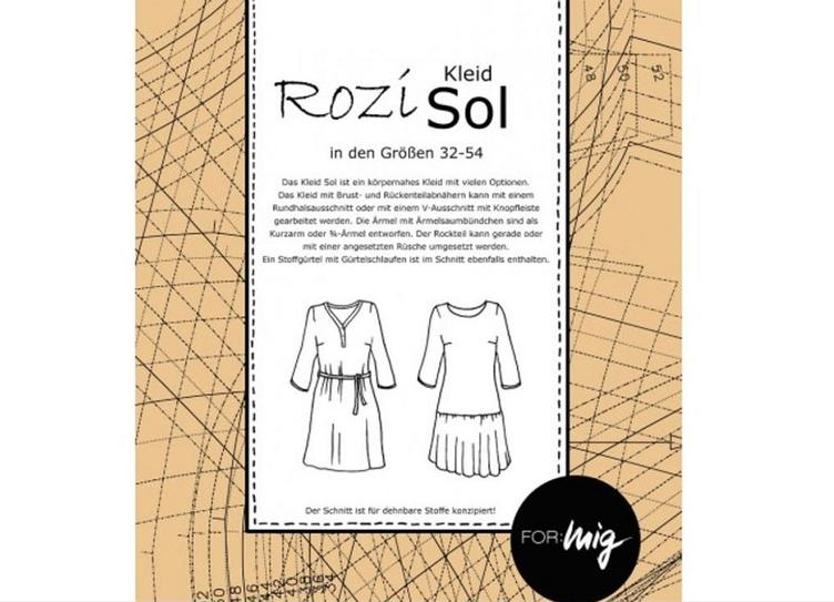 Schnittmuster Kleid SOL (4630)   Schnittmuster   Zubehör   Stoffherz