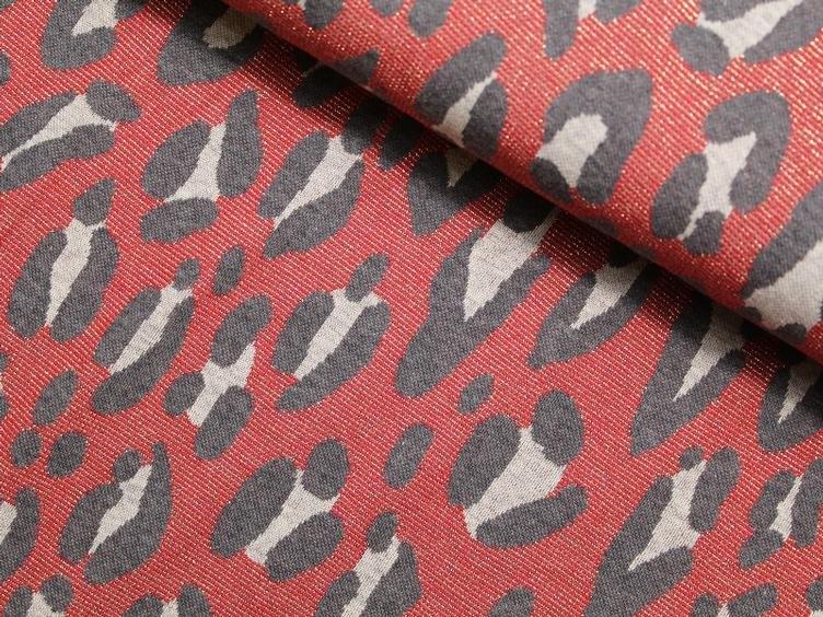 SPARKLE - SAFARI Hamburger Liebe Jacquard rot Lurex
