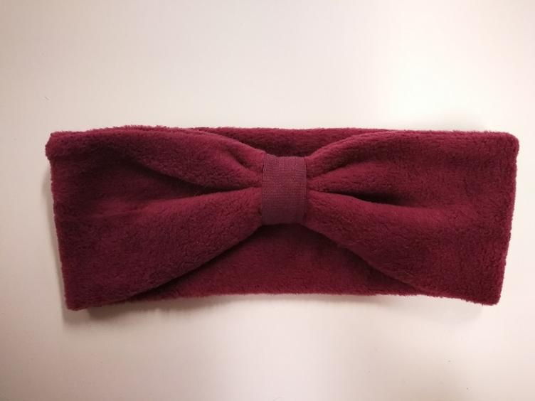 Stirnband organic cotton Fleece bordeaux