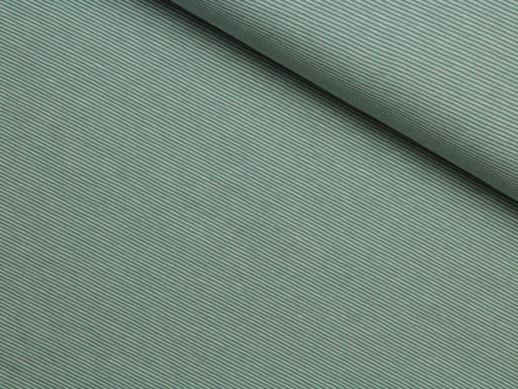 Stripe fein dusty mint/weiss Jersey