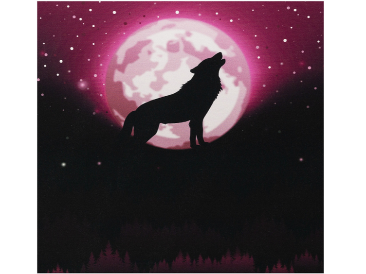 Wolf Moon 2.0 by lycklig design, Sweat unangeraut lila